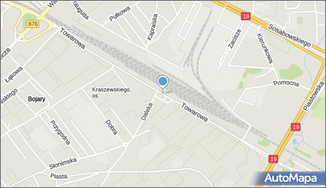 Białystok, Towarowa, mapa Białegostoku