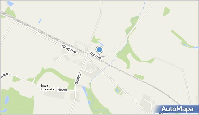 Brzezinka Średzka, Torowa, mapa Brzezinka Średzka