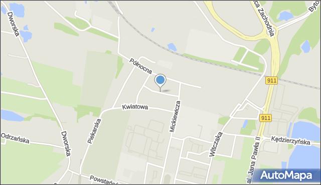 Bytom, Towarzyska, mapa Bytomia