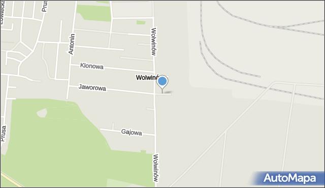 Chełm, Topolowa, mapa Chełma