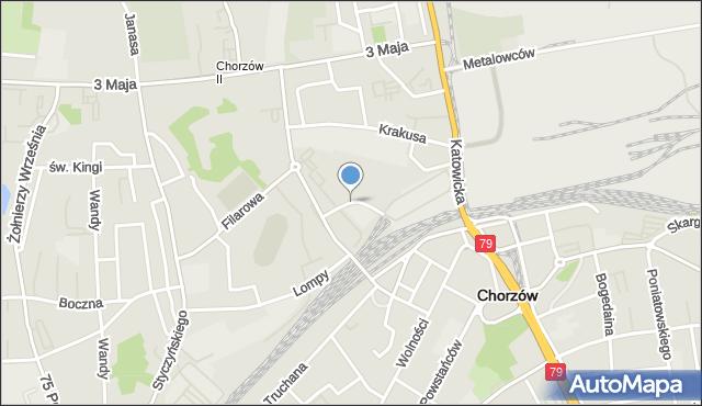 Chorzów, Towarowa, mapa Chorzów