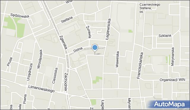 Łódź, Tokarska, mapa Łodzi