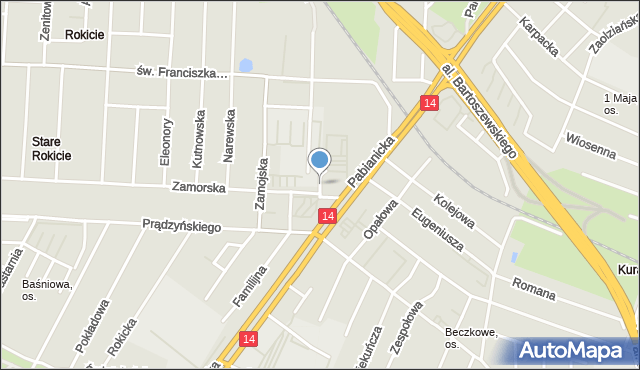 Łódź, Toruńska, mapa Łodzi