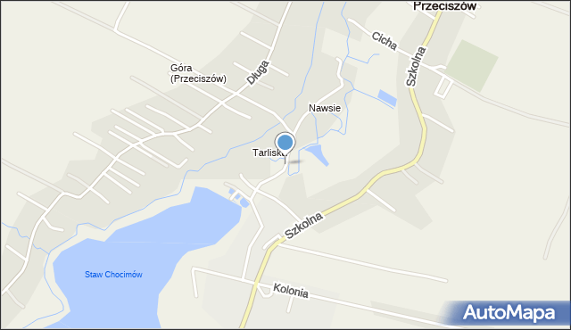 Przeciszów, Topolowa, mapa Przeciszów