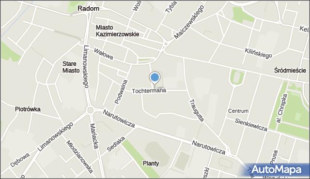 Radom, Tochtermana Adolfa, mapa Radomia