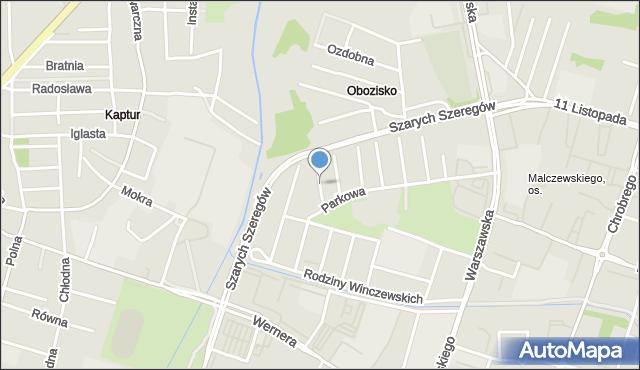 Radom, Torfowa, mapa Radomia