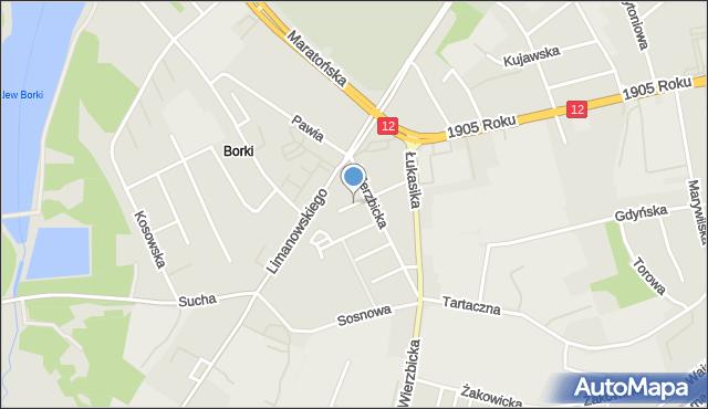 Radom, Topolowa, mapa Radomia