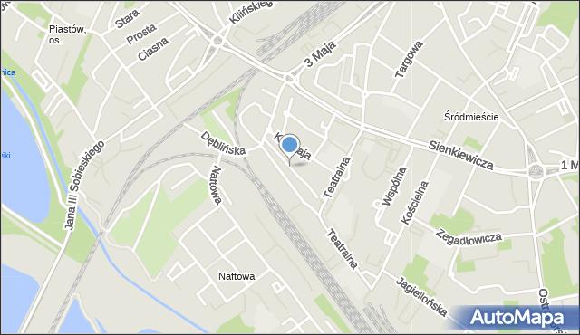 Sosnowiec, Towarowa, mapa Sosnowca