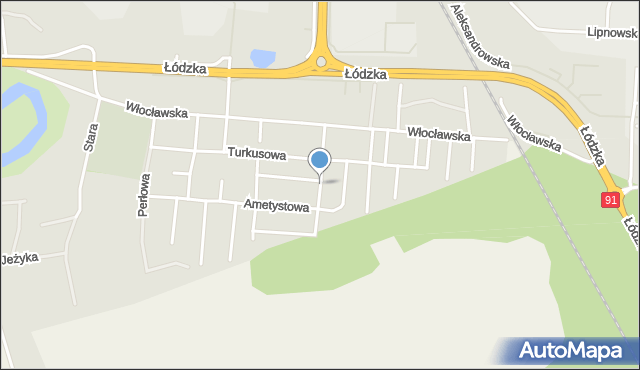 Toruń, Topazowa, mapa Torunia