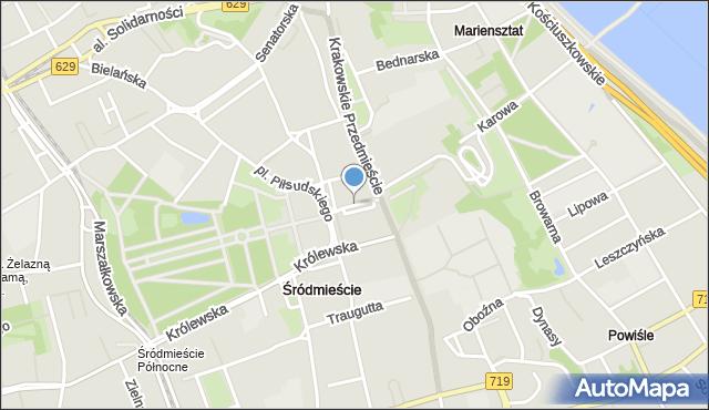 Warszawa, Tokarzewskiego-Karaszewicza Michała, gen., mapa Warszawy