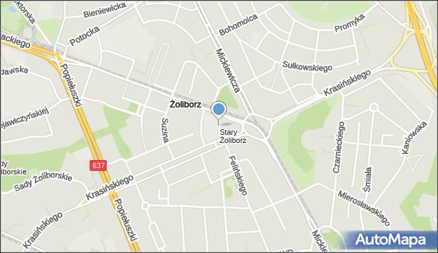 Warszawa, Toeplitza Teodora, mapa Warszawy