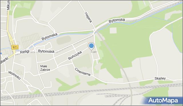 Zabrze, Tomeczka Antoniego, ks., mapa Zabrza