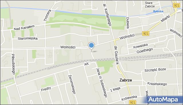 Zabrze, Torowa, mapa Zabrza