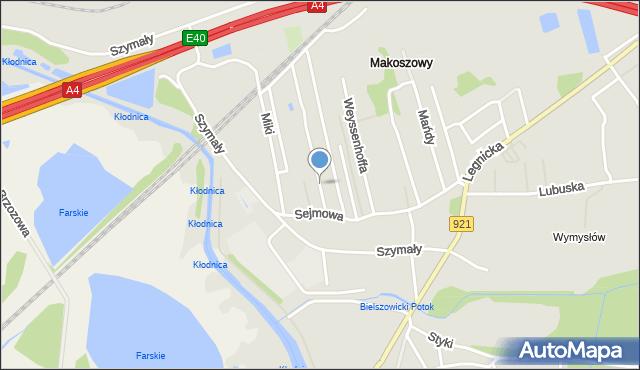Zabrze, Toruńska, mapa Zabrza