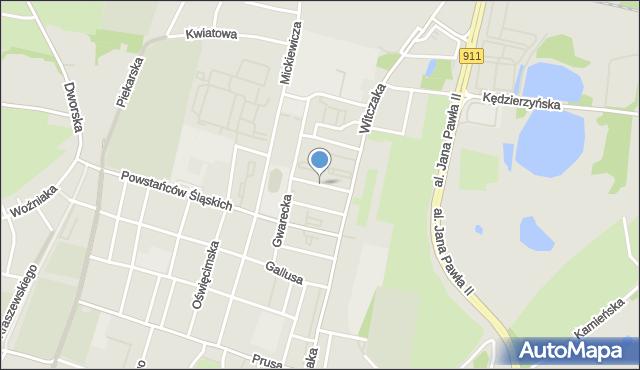 Bytom, Tramwajarzy, mapa Bytomia