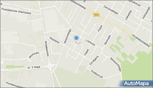 Chełm, Traugutta Romualda, gen., mapa Chełma