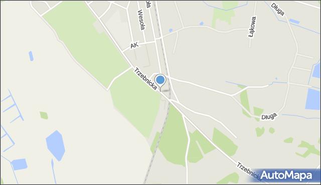 Chocianów, Trzebnicka, mapa Chocianów
