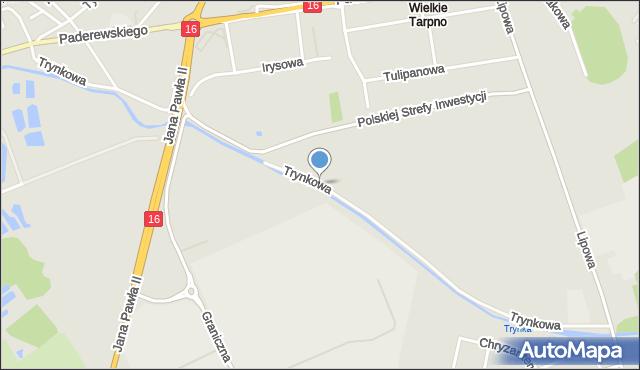 Grudziądz, Trynkowa, mapa Grudziądza