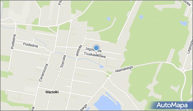 Kobyłka, Truskawkowa, mapa Kobyłka
