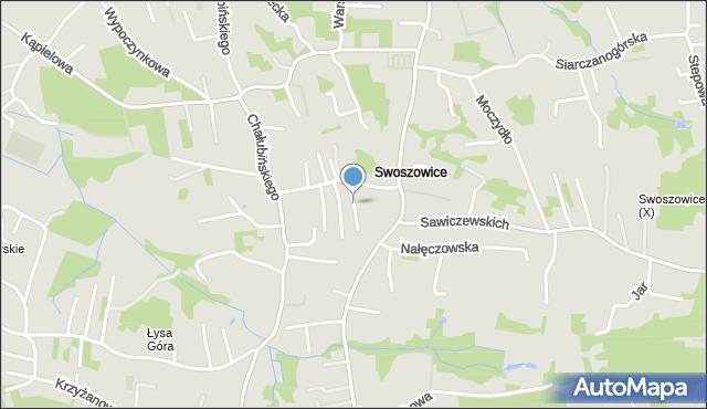 Kraków, Truskawiecka, mapa Krakowa