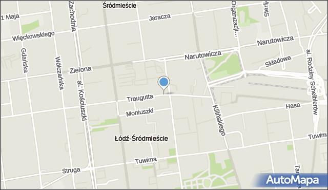 Łódź, Traugutta Romualda, gen., mapa Łodzi