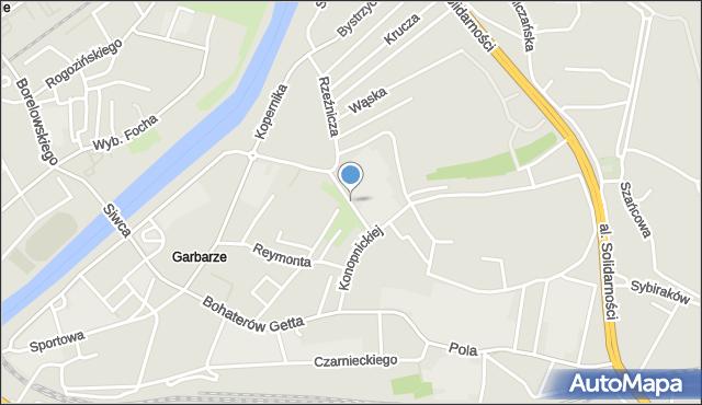 Przemyśl, Trentowskiego Bronisława, mapa Przemyśla