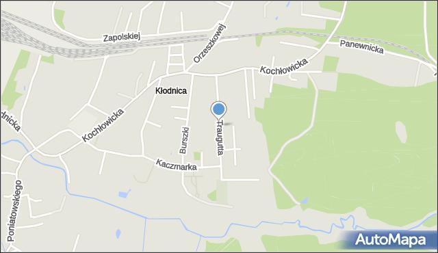 Ruda Śląska, Traugutta Romualda, gen., mapa Rudy Śląskiej