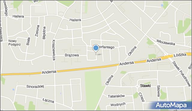 Toruń, Trakcyjna, mapa Torunia