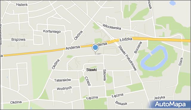 Toruń, Trzcinowa, mapa Torunia