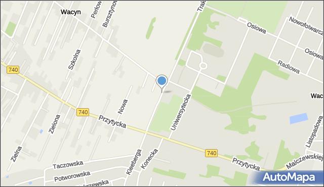 Wacyn, Traktorzystów, mapa Wacyn