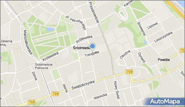Warszawa, Traugutta Romualda, gen., mapa Warszawy
