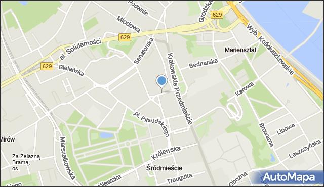Warszawa, Trębacka, mapa Warszawy