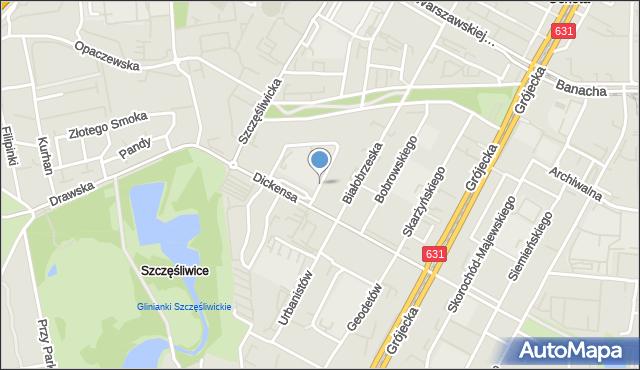 Warszawa, Trzech Budrysów, mapa Warszawy