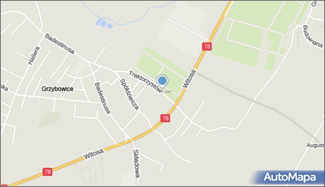 Zabrze, Traktorzystów, mapa Zabrza