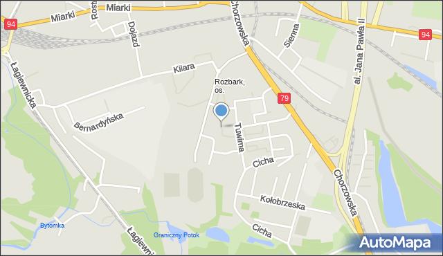 Bytom, Tuwima Juliana, mapa Bytomia