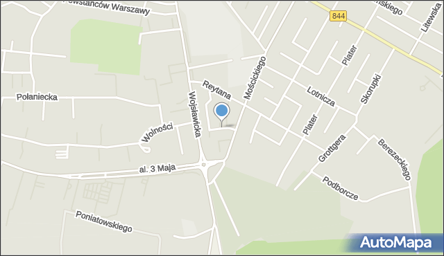 Chełm, Tuzinek, mapa Chełma