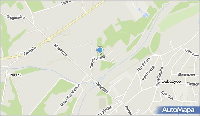 Dobczyce, Turystyczna, mapa Dobczyce