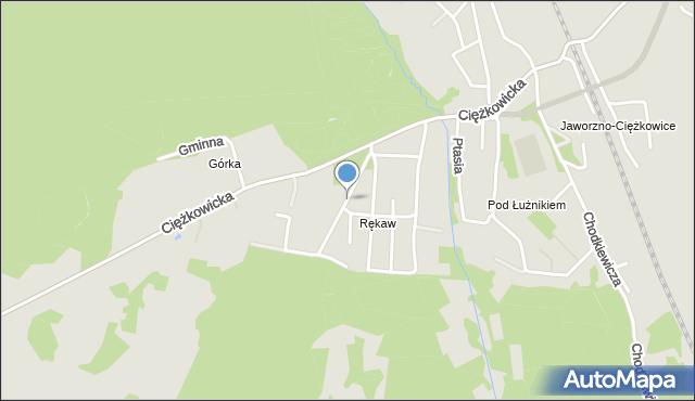 Jaworzno, Turystyczna, mapa Jaworzno