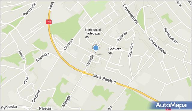 Jaworzno, Tuwima Juliana, mapa Jaworzno