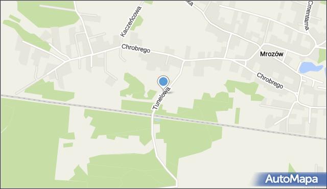Mrozów, Tunelowa, mapa Mrozów