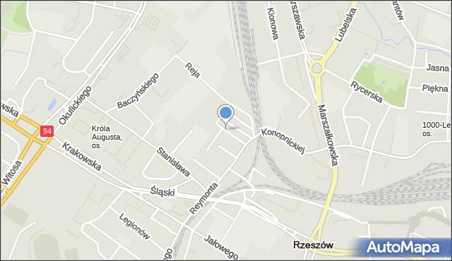 Rzeszów, Tuwima Juliana, mapa Rzeszów