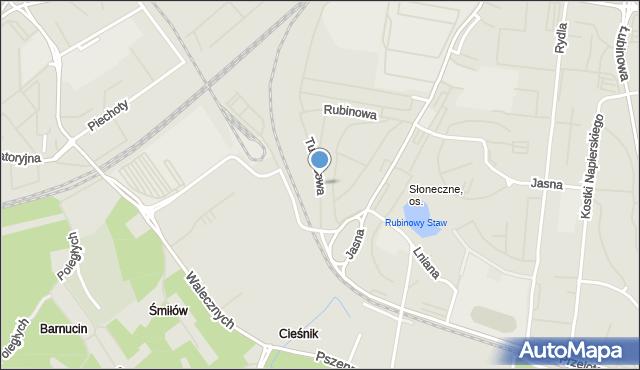 Szczecin, Turkusowa, mapa Szczecina
