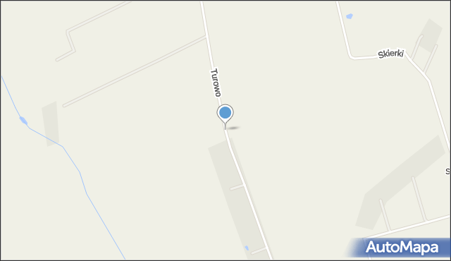 Turowo gmina Czernice Borowe, Turowo, mapa Turowo gmina Czernice Borowe