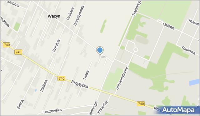 Wacyn, Turkusowa, mapa Wacyn
