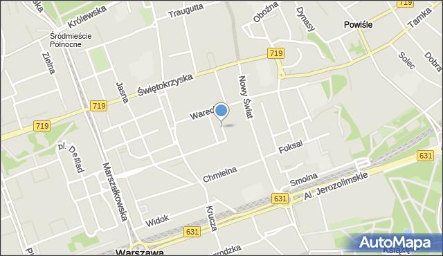 Warszawa, Tuwima Juliana, mapa Warszawy