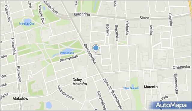 Warszawa, Turecka, mapa Warszawy