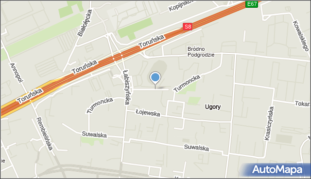 Warszawa, Turmoncka, mapa Warszawy