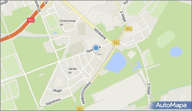 Zabrze, Turystyczna, mapa Zabrza