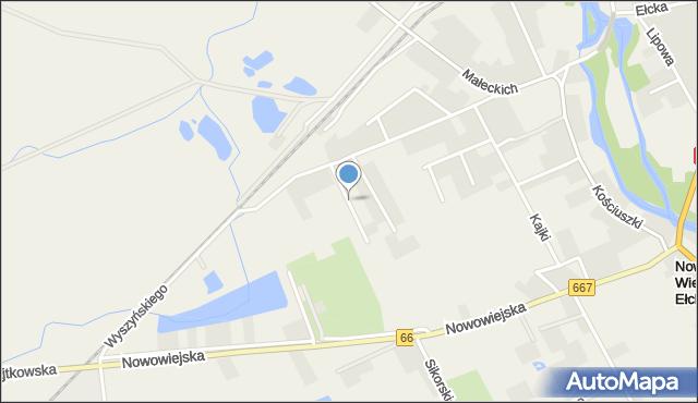 Nowa Wieś Ełcka, Twardowskiego Jana, ks., mapa Nowa Wieś Ełcka