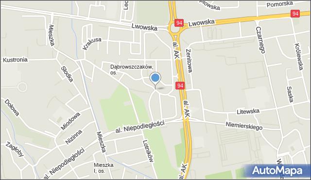 Rzeszów, Twardowskiego Jana, ks., mapa Rzeszów